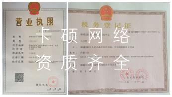 聊城网络公司营业执照与税务登记证